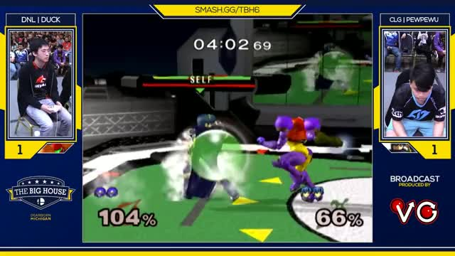 TBH6 SSBM - CLG | PewPewU (Marth) Vs. DNL | Duck (Samus) - Smash Melee Top 64