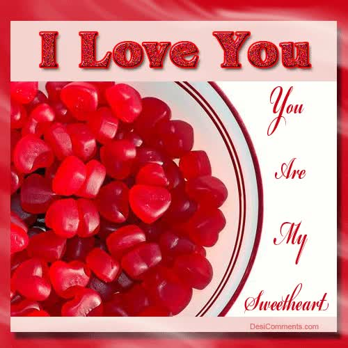 Watch and share I Love You You Are My Sweetheart Glitter GIFs on Gfycat