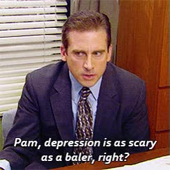 Watch and share Michael:Pam, Depression Is As Scary As A Baler, GIFs on Gfycat