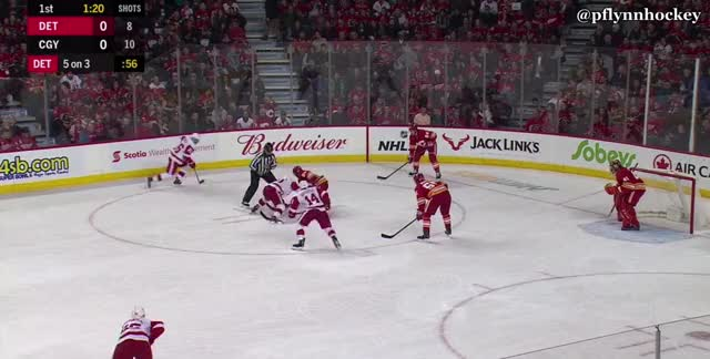 Watch and share Detroit Red Wings GIFs and Calgary Flames GIFs by peterwiim on Gfycat
