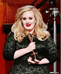 Watch Adele Source GIF on Gfycat. Discover more academy awards, adele, adele edit, award shows, by Veronica, gif, iconic, oscars GIFs on Gfycat