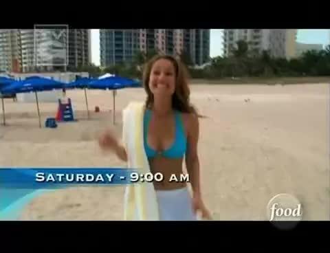 Getaway, Giada, Laurentiis, Weekend, beach, bikini, food, Giada GIFs