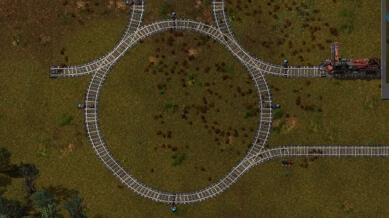 factorio, Chain signal making train get stuck in circle (reddit) GIFs
