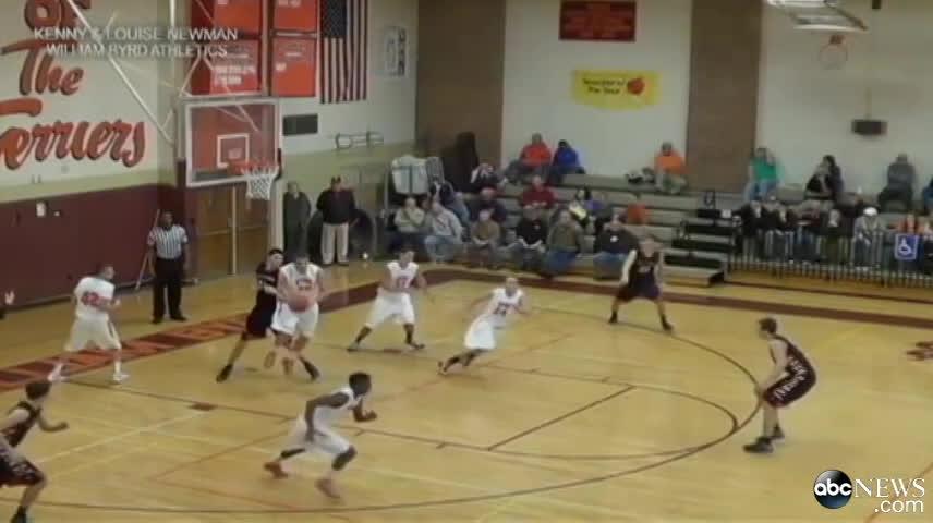 nevertellmetheodds, pureawesomeness, High School Basketball Player Drills Amazing Behind The Back 3pt Shot GIFs