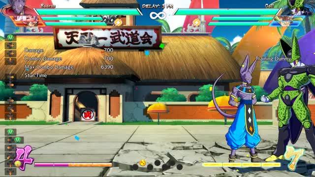 Watch Beerus Combo 2 GIF by Tsukinokami (@tsukinokami) on Gfycat. Discover more Dragon Ball FighterZ, dbfz GIFs on Gfycat