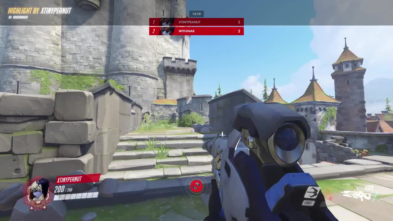 1v1, dallas fuel, headshot, highlight, overwatch, ow, widow, widowmaker, withinallreason, xtinypeanut, Reaction Time @ Within GIFs