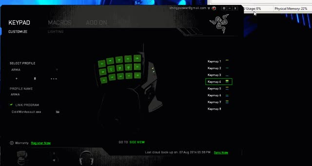 Razer Synapse using 100MB of RAM and using a ton of CPU