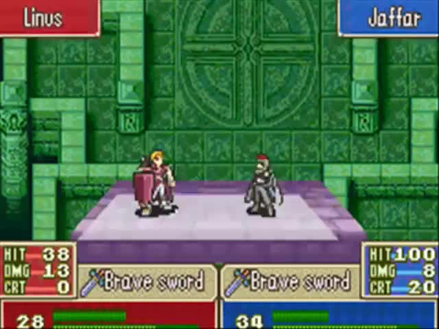 Watch Fire Emblem (GBA) - Jaffar Is A Man! GIF on Gfycat. Discover more Advance, Boy, Emblem, Fire, GBA, Game, Is, Jaffar, Nintendo, Seven GIFs on Gfycat