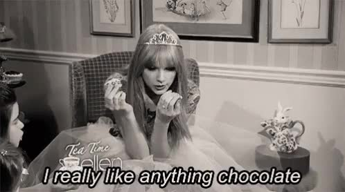 Watch and share Taylor Swift GIFs and Chocolate GIFs on Gfycat