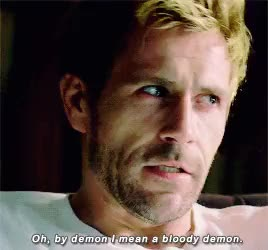Watch to infinity and beyond ! GIF on Gfycat. Discover more *gif, :):):), constantine, constantineedit, matt ryan, nbc constantine, re-watching constantine, still mad that it got cancelled GIFs on Gfycat