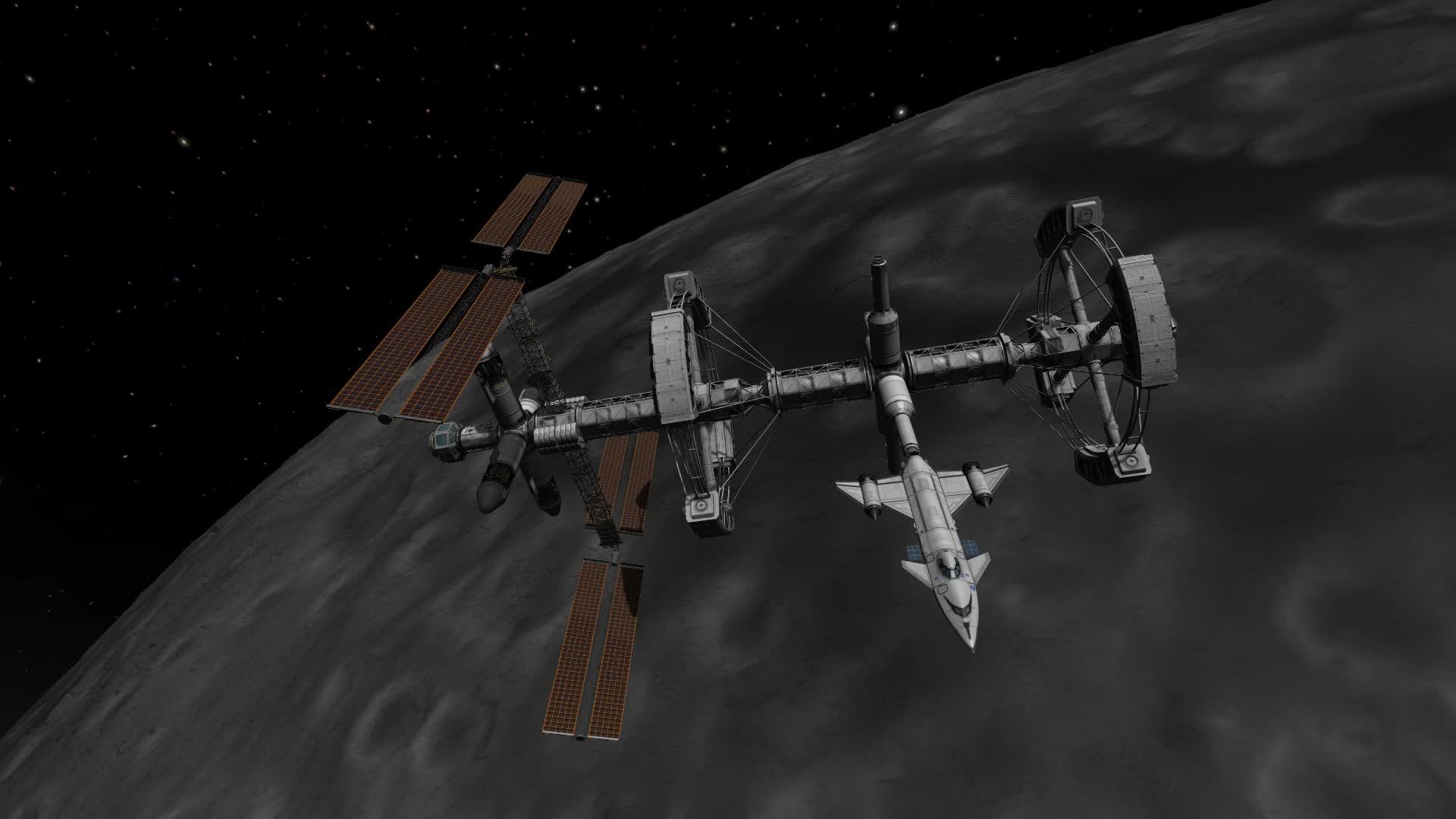Kerbal Space Program Lunar station GIFs