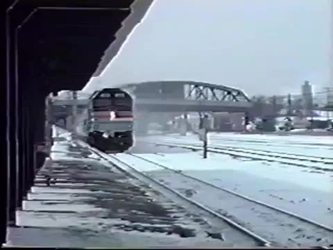 Amtrak F40 #258 and 337 on the Lake Shore Limited in 1996