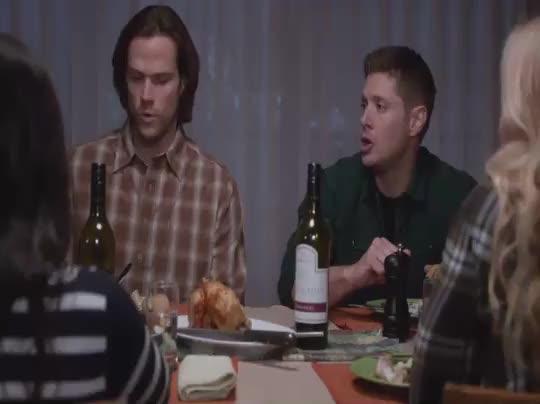Watch Supernatural Dinner GIF on Gfycat. Discover more deanwinchester, samwinchester, supernatural GIFs on Gfycat