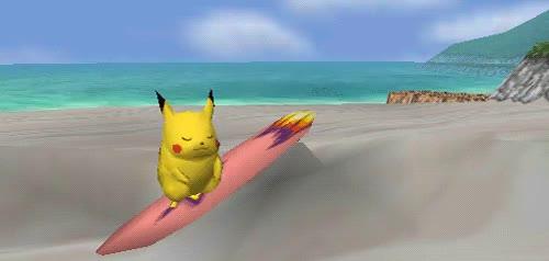 Watch and share Surf Pikachu GIFs on Gfycat