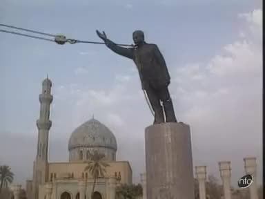 Watch and share Saddam Hussein Statue Pulled Down To The Ground GIFs on Gfycat