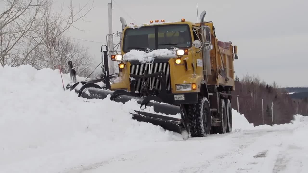 6x6, camera, canada, cold, dot, fun, gopro, ice, plowing, salt, snow, storm, tandem, winter, 6X6 Western Star Plowing Deep Snow GIFs