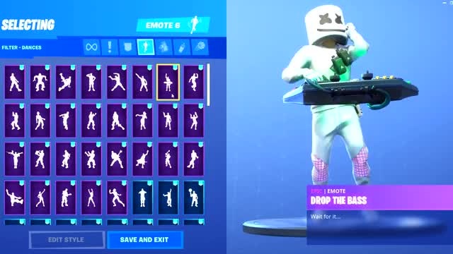 watch new marshmello skin showcase with all fortnite dances new emotes - fortnite all skins and dances