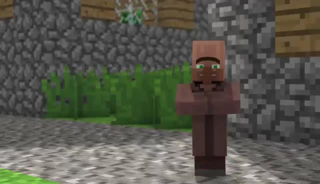 Minecraft villagerTv, minecraft ^^ GIFs