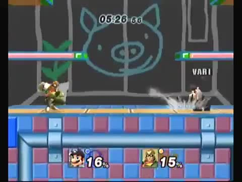 Watch and share Vari Johnson (Mario) V. Advil (C. Falcon) (reddit) GIFs by rtrnr on Gfycat