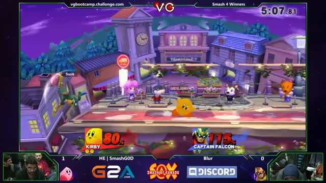 Watch S@X 132 - HE | SMashGOD (Kirby) Vs. Blur (Captain Falcon) SSB4  Tournament - Smash Wii U - Smash 4 GIF by elcheer (@elcheer) on Gfycat. Discover more Smash Bros. For Wii U, bros., smashgifs GIFs on Gfycat