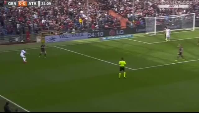 Watch and share Andrea Conti Goal ~ Genoa Vs Atalanta 0-1 (online-video-cutt GIFs on Gfycat
