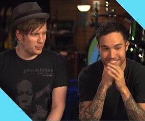 Watch this trending GIF on Gfycat. Discover more patrick stump, pete wentz GIFs on Gfycat