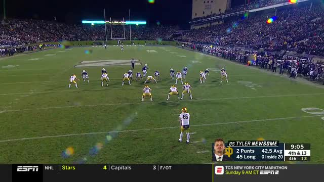 College Football: Notre Dame at Northwestern | ESPN | Clippit GIF