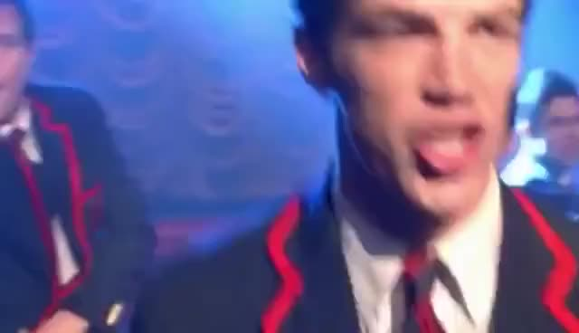 Watch Grant Gustin GIF on Gfycat. Discover more glad you came, glee, grant gustin, love, music, sabastian smythe, warblers GIFs on Gfycat