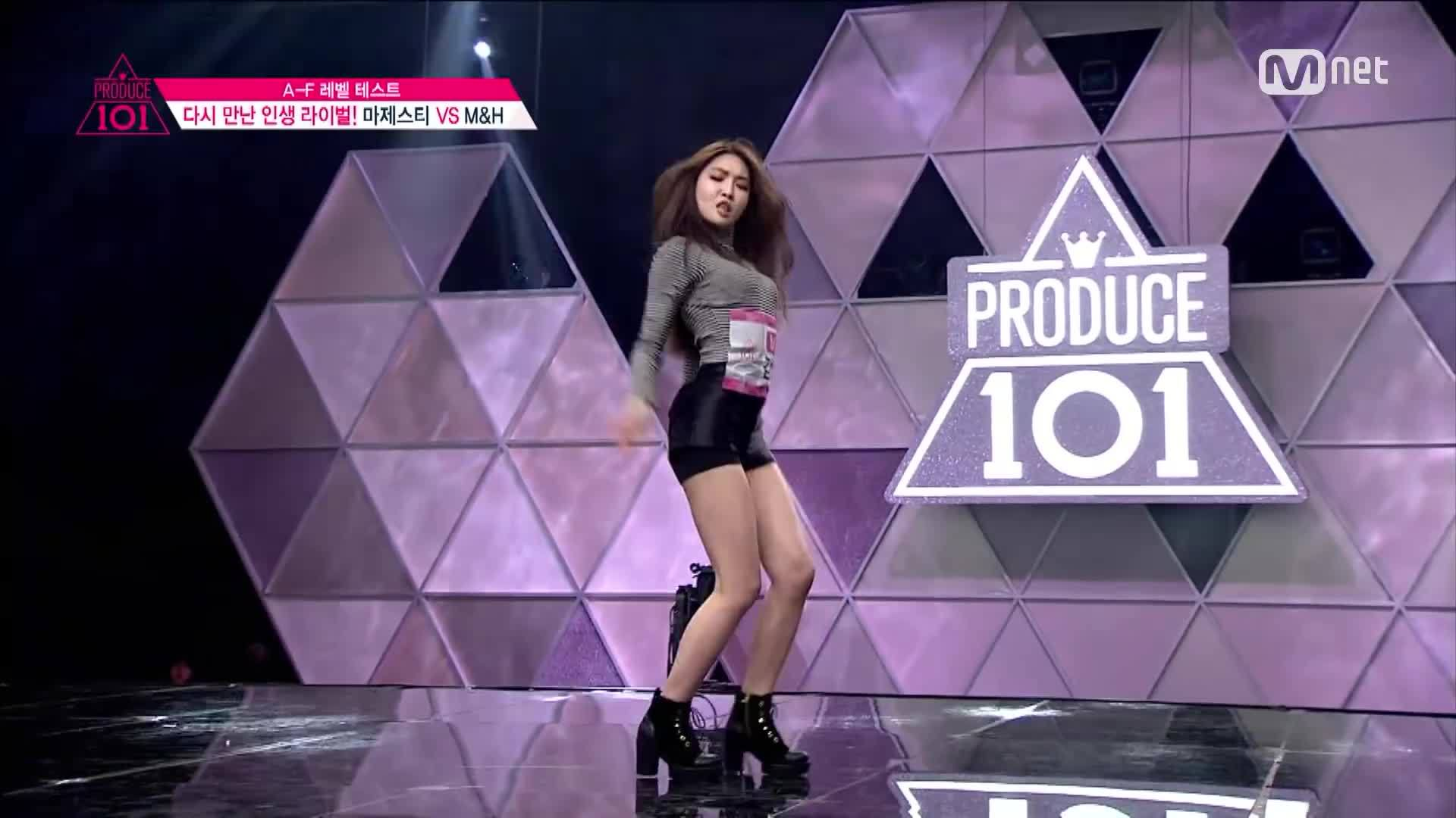 produce101, 오프닝, 프로듀스101, Produce 101 [2회] 노래면 노래 춤이면 춤! M&H 오서정,김청하 - ♬24시간이 모자라 160129 EP.2 GIFs