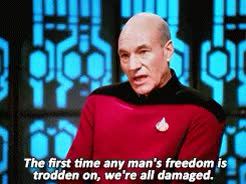 Watch Star Trek GIF on Gfycat. Discover more 1000, 2x21, Freedom, Patrick Stewart, Speech, The Drumhead, human, jean luc picard, quotes, star trek, tng GIFs on Gfycat