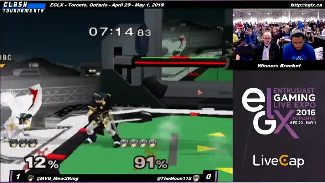 EGLX - Mew2King (Marth) vs The Moon (Marth) - SSBM