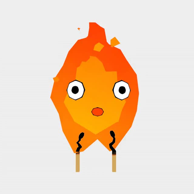 Watch and share Calcifer GIFs and Low Poly GIFs by Tea Mori on Gfycat