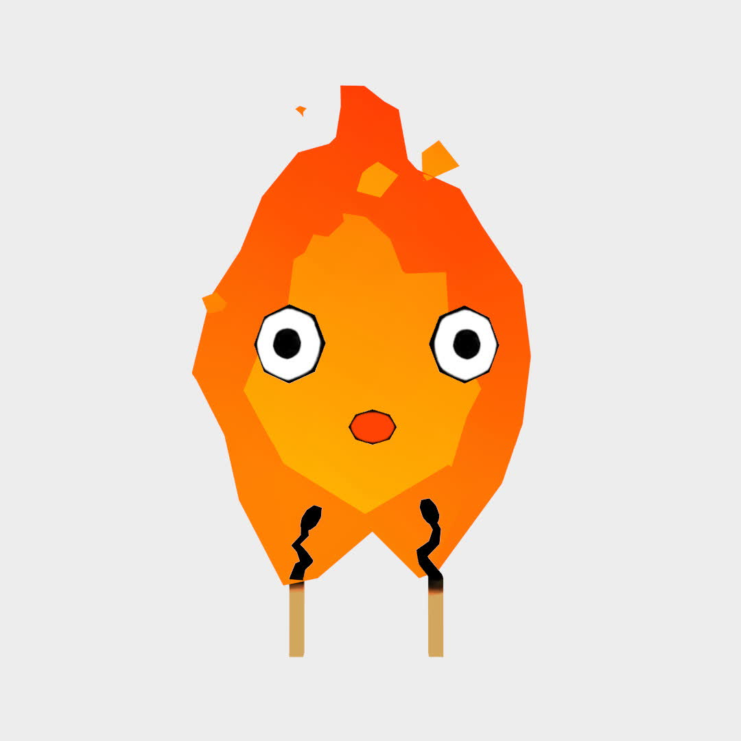 calcifer, howl's moving castle, low poly, Low Poly Calcifer GIFs