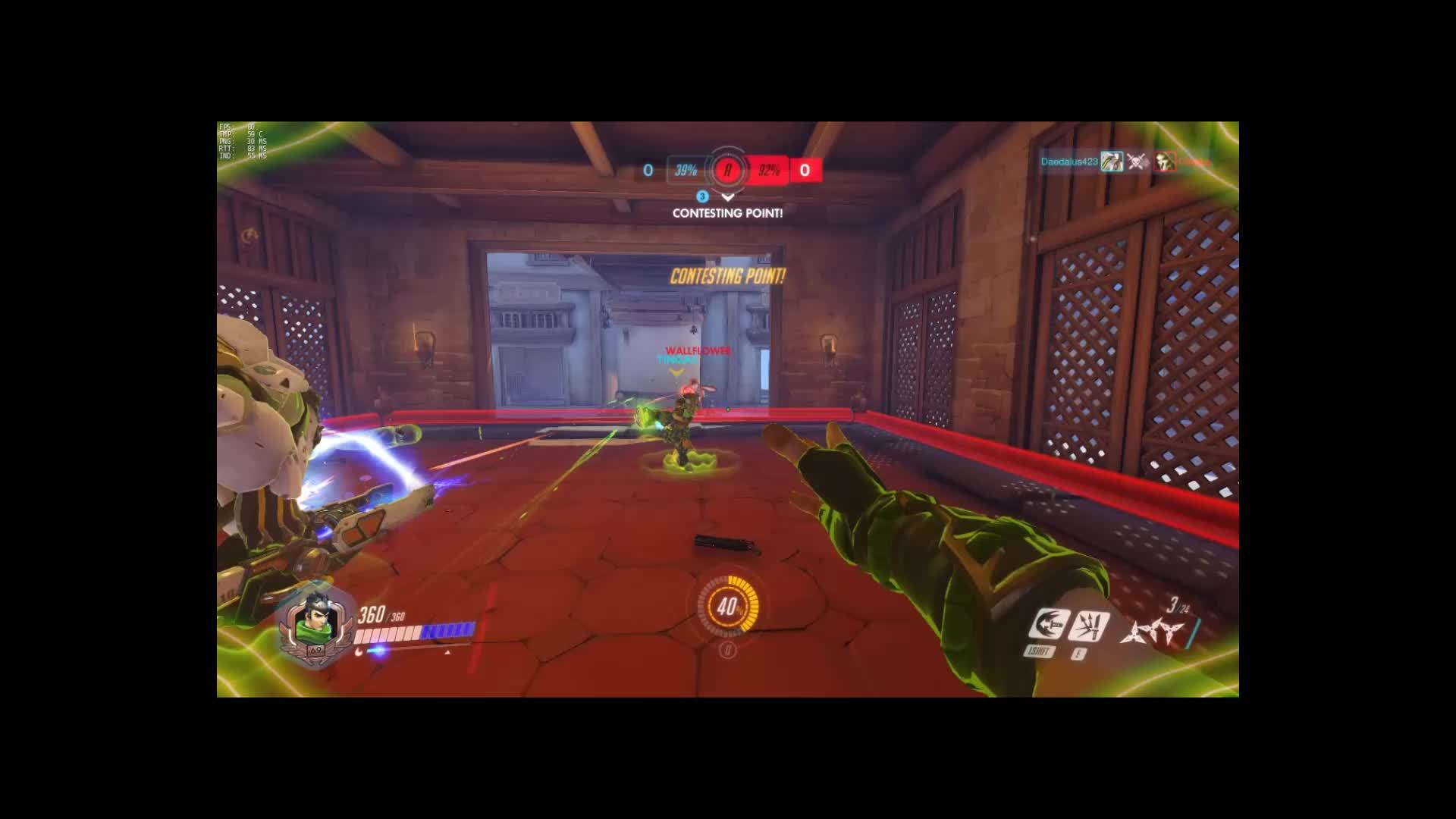 genjimains, overwatch, Deflected Pulse Bomb GIFs