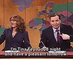 Watch this trending GIF on Gfycat. Discover more *, Saturday Night Live, Weekend Update, jimmy fallon, snl, tina fey GIFs on Gfycat