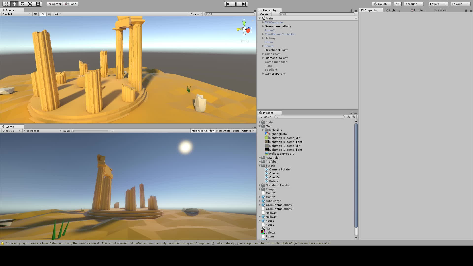 low_poly, unity3d, Unity lighting low poly ruins GIFs