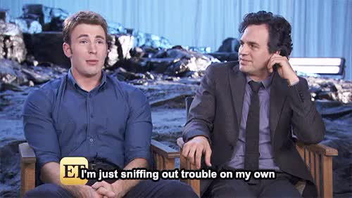 Watch and share Mark Ruffalo GIFs and Chris Evans GIFs on Gfycat