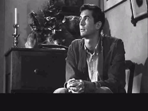 1960, Alfred Hitchcock, Black and White, Norman Bates, Psycho, Rain, Stopped Raining, celebs, janet leigh, Stopped Raining GIFs