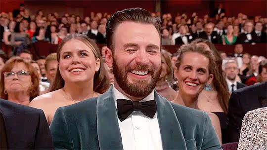 celebs, chris evans, oscars, oscars 2019,  GIFs