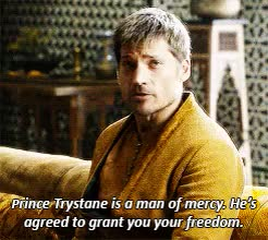 Watch this jaime lannister GIF on Gfycat. Discover more *, a song of ice and fire, areo hotah, asoiaf*, bronn, game of thrones, got, gotedit, jaime, jaime lannister, lannister, s5 challenge, trystane martell GIFs on Gfycat