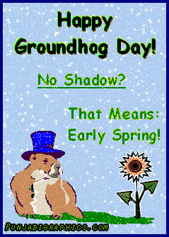 No Shadows To Be Seen On Groundhog Day >> Happy Groundhog Day No Shadow Gif Find Make Share Gfycat Gifs