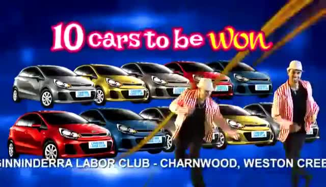 WIN a KIA RIO! Canberra Labor Club TV Commercial, Glamourosas GIFs