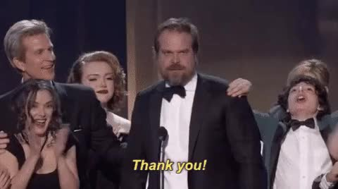 Watch this david harbour GIF on Gfycat. Discover more david harbour, thank you GIFs on Gfycat