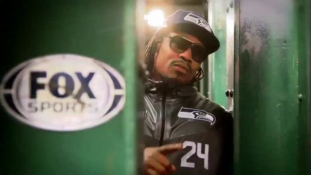 Watch GIF of Marshawn Lynch shushing the haters before halftime of Giants game. (reddit) GIF on Gfycat. Discover more flashtv, seahawks GIFs on Gfycat
