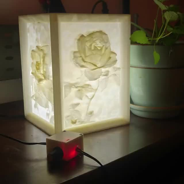 Watch and share 3D Printed Lithophane Lamp @adamsprints GIFs on Gfycat