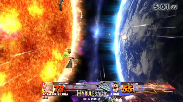 Hyrule Saga - GRV | Dabuz (ZSS) Vs uS | Elegant (Luigi) Top 32 Winners - Smash 4