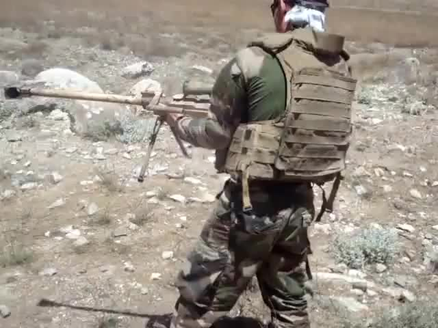 Watch and share French Soldier Firing A PGM Hecate Anti-materiel Rifle From The Hip In Afghanistan (reddit) GIFs on Gfycat