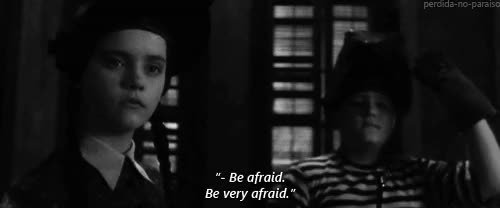 Watch and share Be Afraid GIFs on Gfycat