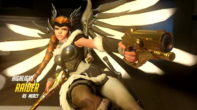 Watch and share Overwatch GIFs and Mercy GIFs by Raider on Gfycat