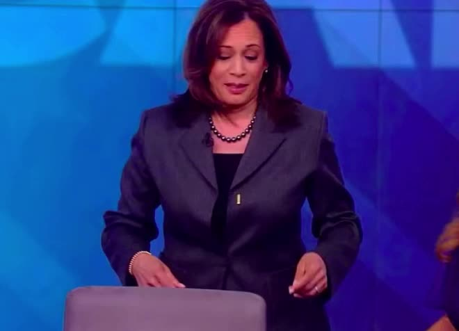 chair, harris, kamala, kamala harris, last, late, lost, oops, politics, Kamala is late GIFs